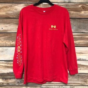 Christmas red XL Simply Southern long sleeve tee